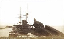 Lundy. HMS Montague Ashore # 41 by Twiss Bros.,Ilfracombe.