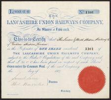 Lancashire Union Railways Co., £100 shares, 1867