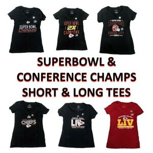 NFL Kansas City Chiefs Super Bowl LIV and Conference Champion Tee Womens Shirts