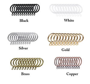 Metal Curtain Rings Hanging Hooks for Curtains Rods Pole Voile Heavy duty Rings