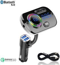 Car Bluetooth FM Transmitter Car Radio Adapter QC3.0 Bluetooth Receiver 2 USBs