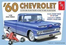 1960 Chevrolet Custom Fleetside Pickup Truck w/Go Kart 1/25 AMT Models
