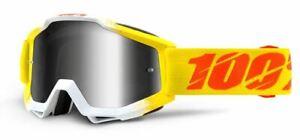 Ride 100% Accuri Moto Zest MX Goggle Silver Mirror Lens, NEW!