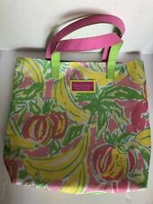 Lilly Pulitzer for Estee Lauder Fruit Banana Strawberry Tote Bag Shopping Beach