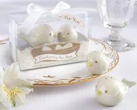 1 Feathering Nest Love Birds Salt & Pepper Shaker Favors Wedding SHIPS FROM US