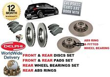 FOR RENAULT CLIO 2.0i SPORT 2006-> FRONT & REAR BRAKE DISCS & PAD & BEARINGS KIT
