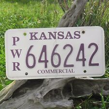 Véritable Plaque D'Immatriculation KANSAS (646242) USA License plate COMMERCIAL