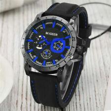 MIGEER Casual Watch Men's Sport Military Quartz Wristwatch Silicone Bracelet
