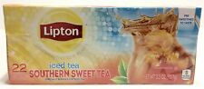 Lipton Southern Sweet Tea Bags For Iced Tea 22 Ct Family Size Presweetened Fresh