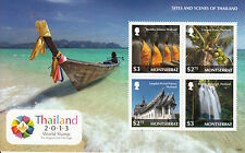 Montserrat 2013 MNH Sites and Scenes Thailand 4v M/S Buddha Statues Coconut Tree