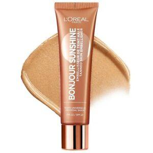 L'OREAL Bonjour Sunshine Liquid Bronzer/Tanned Skin Embellisher 30ml SPF22