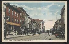 POSTCARD POUGHKEEPSIE NY/NEW YORK MAIN STREET BUSINESS STORE FRONT 1910'S
