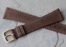 European made all-stitched Genuine Pigskin 18mm vintage watch band NOS 1960s/70s