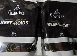2 X Polyplab Reef-Roids 75g  NEW BIGGER SIZE Engineered Zooplankton Coral Food