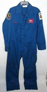 Vintage Unitoy Mens Mechanic Denim Jumper Suit Coveralls USA Made 36L