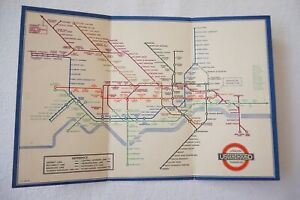 1936 No. 2 Railway Map Harry Beck London Transport Underground Tube