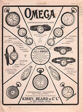 Pub Montres Omega Chronographe Tachymètre Rue Aubert Paris 1911 ILLUSTRATION