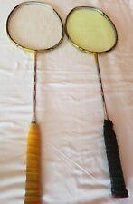 2 Li-Ning Woods N80 badminton rackets and carrying bag