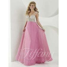 Tiffany Designs Prom Dress 16190 Pastel Orchid/Nude Size 8 NWT