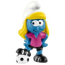 Schleich Smurfs Football Smurfette figura 20805 Nuevo