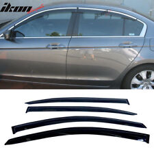 Fits 08-10 Honda Accord EX LX Sedan 4Dr 1.6MM Slim Sun Window Visor Smoke 4PCS