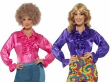 Costumi e travestimenti vestito rosa raso per carnevale e teatro da donna