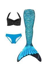 Fin Fun Mermaid Tail Set w/bikini top&bottom Reinforced Tips, Tidal Teal, Sz 8