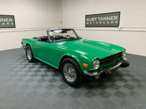 1975 Triumph TR-6 1975 TRIUMPH TR-6. 4-SPEED WITH OVERDRIVE, CHROME WIRE WHEELS.