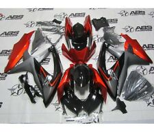 Fairing Black RED Injection Fit for 2008-2010 Suzuki GSXR 600 750 K8 Plastic