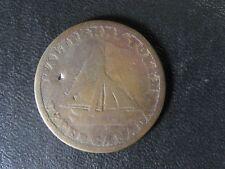 UC-9A4 Halfpenny token 1820 Upper Canada Commercial Change Ontario Breton 727