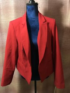 Simply Be Womens Red Cropped Blazer Sz 18 Ladies Jacket Formal Casual