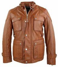Lederjacke Herren Echtleder Lammnappaleder Leather Jacket 3XL Cognac braun