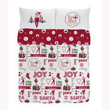 Housse de couette lit double set Elf on the Shelf LITERIE 100% coton noël