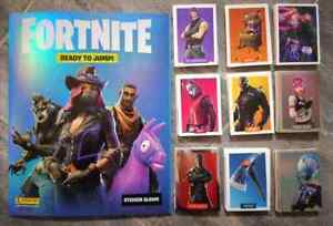 FORTNITE SERIES 1 Ready to jump  ALBUM + COMPLETE STICKERS SET