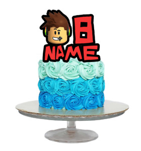 ROBLOX INSPIRED PERSONALISED BIRTHDAY CAKE TOPPER ANY NAME AND AGE