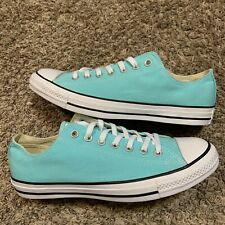 Converse Aqua Light Tiffany Blue Low Top Lace Up Casual Sneakers Size 10