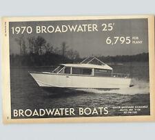 1970 PAPER AD Broadwater Boats 25' $6,795 Motor Boat Cabin Cruiser