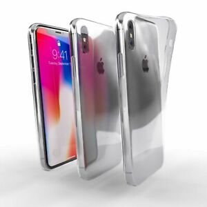 Apple iPhone X  Case, Savvies® Xtreme Cover Bumper TPU Shockproof Soft - Clear