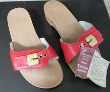 Nos Nwt Rare Vintage Dr Scholl's Exercise Sandals Red Size 6 Made in Austria