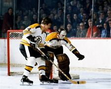 Bobby Orr, Gerry Cheevers Boston Bruins Game Auction 8x10 Photo