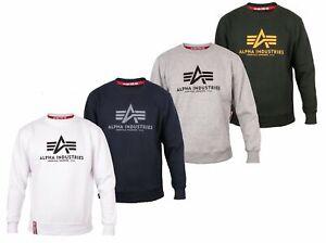 Alpha Industries Herren Pullover Crew Neck BASIC Sweatshirt