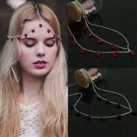 Women Rhinestone Head Chain Tassel Fashion Jewelry Headband Head Piece Hair band