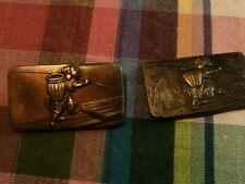 paire ancien menuki  Antique japonais menuki Samurai Épée fitting-Poignée