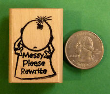 MESSY Please Rewrite - Wood Mounted Teacher's Stamp