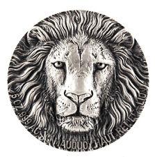 Mauquoy Big Five das begehrteste Motiv: Löwe Lion 5 Oz Silber Ivory Coast RAR !!