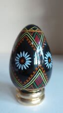Collectable Franklin Mint Ceramic Egg & Stand Figurine Traditional Decor 88FM
