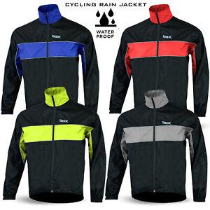 Mens Cycling Jacket High Visibility Waterproof Running Top Rain Coat S to XXL