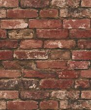 Photographic Wall Red - Fine Decor Rustic Brick Wallpaper FD31285
