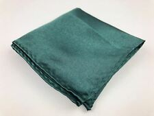 Mens Silk Satin Pocket Square Handkerchief Emerald Green