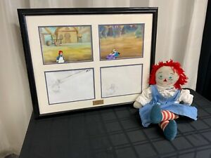 Original Raggedy Anne & Andy cel art creation& Anne Doll (MM1736)